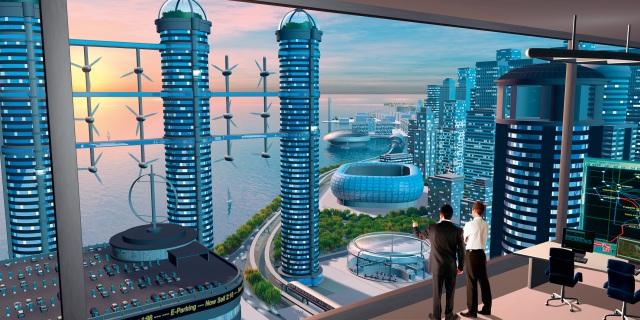 Strom für die Städte im Jahr 2050 © Siemens
